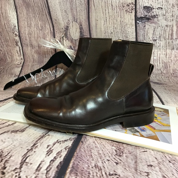 Jimmy Choo Boots Ankle Mens Brown Euc